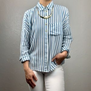 Urban Out: BDG striped button down xs/Sm